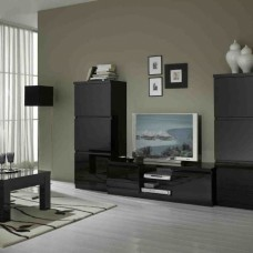 Zwart Bruine Tv Kast.Roma Woonkamer Zwart Hoogglans Woonkamers Elit Wonen