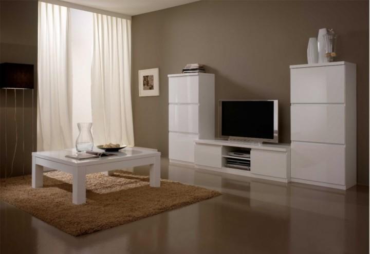 Woonkamer Kast Wit : Roma woonkamer wit hoogglans woonkamers elit meubel