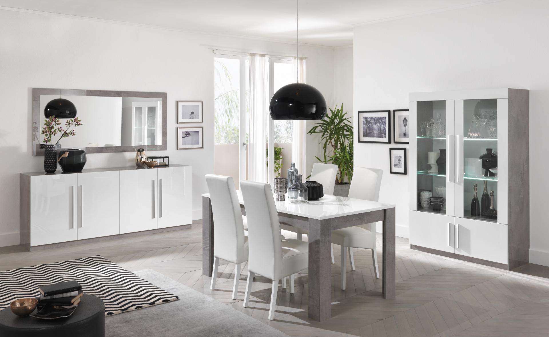 Greta woonkamer wit marble hoogglans woonkamers elit for Woonkamer wit