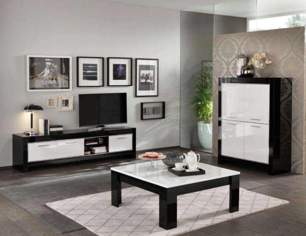 Modena woonkamer zwart wit hoogglans woonkamers elit meubel