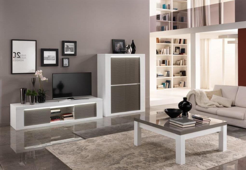 Venezia woonkamer wit grijs hoogglans woonkamers elit for Woonkamer wit
